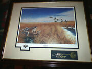 J.murry North America Flyway Series Canada Geese Signed Number Framed Print