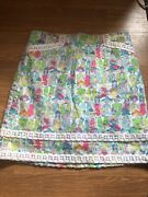Euc Lilly Pulitzer Giddy Up Roslyn Skirt Derby Sz 2 Hard To Find