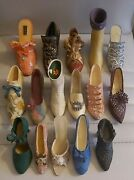 Just The Right Shoe And Various Artists Set Of 16 Beautifull Miniature Shoes