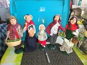 Byers Choice Carolers Christmas Victorian Family Set Of 5- As Seen