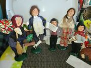 Byers Choice Carolers Christmas Victorian Shoppers Family Set Of 5 As Seen
