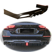 Unfinished For Honda Accord 2018-2020 Rear Bumper Diffuser Bodykit With Lights