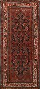 Antique Pre-1900 Geometric Mahal Hand-knotted Area Rug Wool Oriental Carpet 4x8