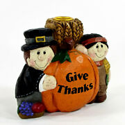 Midwest Of Cannon Falls Give Thanks 5 Candle Holder Thanksgiving Eddie Walker