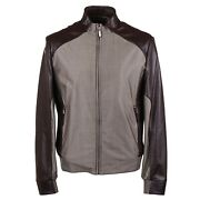 Brioni Baby Buffalo Leather And Wool-blend Bomber Jacket M Eu 50 Nwt