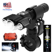 Usb Rechargeable Bicycle Headlight Bike Head Light Front Rear Lamp Cycling