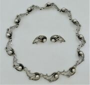 Miguel Garcia Martinez Taxco Sterling Silver Necklace And Earrings Rancho Alegre