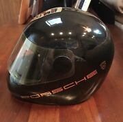 Vintage Porsche Ceramic Racing Helmet Paper Weight Ashtray Rare Collectible