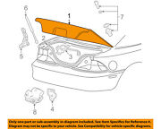 Ford Oem 05-09 Mustang-trunk Lid 5r3z6340110aa