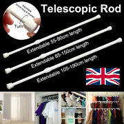 Spring Loaded Extendable Telescopic Net Voile Tension Curtain Rail Pole Net Rods