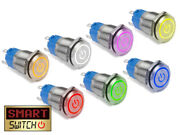 19mm Angel Eyeandreg Power Spst Stainless Steel Push Button Led Metal Switch Ae19