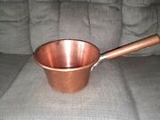 Ruffoni Italy 10 1/2'' X 6'' Copper Pot Excellent Condition Long Handle