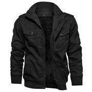 Menand039s Tactical Bomber Jacket Army Field Combat Cotton Coat Military Pilot Jacket