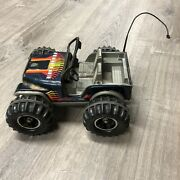 Jeep Tonka Toy Vintage Blue Trail Fire Jeep.vgc See Pictures