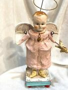 Pink Angel With Bunny By Debbee Thibault