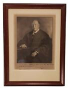 President William Taft Signed And Framed Harris And Ewing Photo