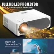 Full Hd Projector 6800 Lumen 1920x1080p Upgrade Video Support 4k And Zoom Outdoor