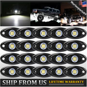 Led Rock Light 20x White Auto Off Road 12v Car Wheel Exterior Underglow Lighting