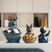 Cats And Dog Figurines Modern Resin Craft Cute Miniature Animals Office Decoration