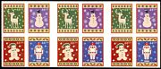 4428c 2009 Xmas Booklet - One Side Of 12 Stamps With Die Cutting Omitted Error