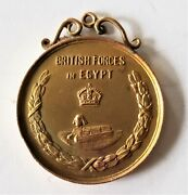 1929-30 Solid 9k Gold British Forces In Egypt Military Sports Medal Birmingham