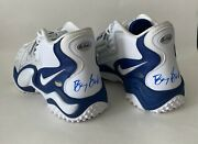 Barry Sanders Autographed Nike Air Zoom Turf Jet 97 20th Anniversary Shoe