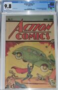 Action Comics 1 Cgc 9.8 Superman Peanut Butter Promotional From 1983 + Extras