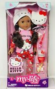 """My Life As Hello Kitty Wavy Black Hair Posable 18"""" Doll With 9 Piece Accessory"""