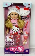 """My Life As Hello Kitty Wavy Blonde Hair Posable 18"""" Doll With 9 Piece Accessory"""