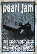 Pearl Jam Piano Puppet 1993 West Coast Fall Tour Promo Poster Ames Bros. Vg++
