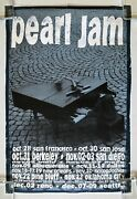 Pearl Jam Piano Puppet 1993 West Coast Fall Tour Promo Poster Ames Bros. Vg