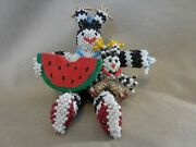 Zuni Hand Made Beaded Koshare With Baby And Watermelon Florence 103120a