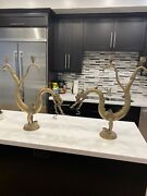 Brass Candle Holders Dragons Antique 25 Tall Set Of Two
