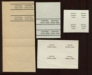 Canal Zone Official/panama Canal And Cristobal Canal Zone Overprint Proofs