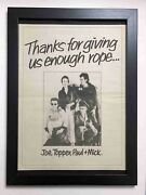 The Clash - Thanks For Giving Rope - Framed 1979 A3 Vintage Advert / Poster