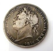 1821 George The Iv Silver Crown Coin - Great Britain - George Iiii - Circulated