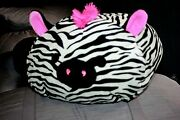 Tracey Stackable Squishmallow Zebra W/ Pink Mohawk Bnwt 12