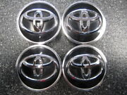 Set 4 Oem Toyota Black And Chrome Center Caps Pc+abs 7 Pacific Co 62mm 2.5