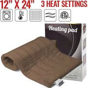 Xl Electric Heating Pad Shoulder Neck Back Spine Legs Feet Pain Moist Thermal