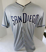 2019 San Diego Padres Blank Game Issued Grey Jersey 50th And 150 Patch 48 26