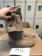 Ugg Australia 5819 Cardy Tall Sand Brown Knit Winter Boots Women's Size 7