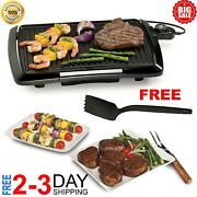 Non Stick Barbecue Roast Smokeless Cooking Electric Grill Bbq Griddle Pan Indoor