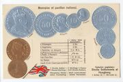 Hong Kong And Straits Settlements Coins On German Ad Postcard Ca 1906 Rare Type 2