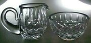 Waterford Crystal Lismore Mini Sugar And Creamer Set - Excellent