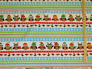 Holiday Hoot Owl Sampler Northcott Flannel Fabric By The 1/2 Yard  F20332