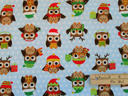 Holiday Hoot Owl Allover Northcott Flannel Fabric 17 X 42  F20333