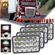Dot 4x 4x6and039and039 Hi/lo 75w Led Headlights For Peterbilt 379 378 Freightliner Fld120