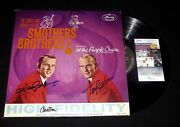 Smothers Brothers Tom And Dick Autographed Album At The Purple Onion - Jsa Coa