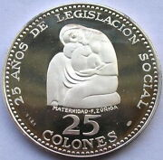 Costa Rica 1970 Month Family 25 Colones 1.73oz Silver Coinproof