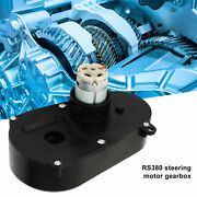 Rs380 6v/12v 5000/5500rpm Gear Box Electric Motor Steering Gearbox For Children